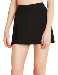 Bcbgeneration Kilt Solid Skort Black
