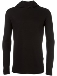 Rick Owens Knitted Hoodie Men Cashmere L Black