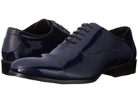 Stacy Adams Gala Navy Patent Men's Lace Up Cap Toe Shoes Blue