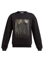 Givenchy Silver Sequinned Jersey Sweatshirt Black Multi