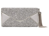 Bcbgmaxazria Slone Hard Envelope Case Crystal Clutch Handbags Gray
