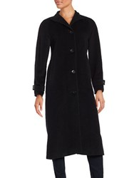 Jones New York Long Wool Blend Walker Coat Black