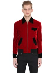 Saint Laurent Two Tone Viscose Velvet Teddy Jacket