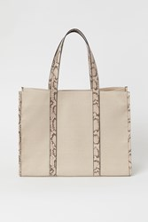 Handm H M Large Shopper Beige