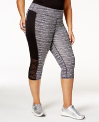 Material Girl Active Plus Size Space Dyed Cropped Leggings Only At Macy's Noir