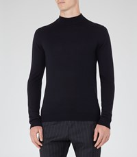 Reiss Windsor Mens Merino Rollneck In Blue