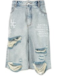 Haculla Some Real New York Denim Shorts Blue