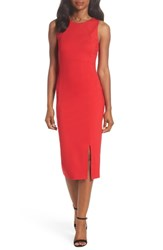 Felicity And Coco Lizzie Ponte Midi Dress Tango Red