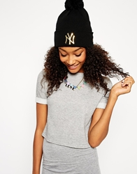 New Era Ny Bobble Beanie Blackandgold