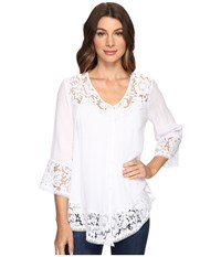Brigitte Bailey Fennec Lace Top Pale Blush Women's Clothing Gray