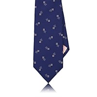 Fairfax Men's Dot Pattern Silk Satin Necktie Blue