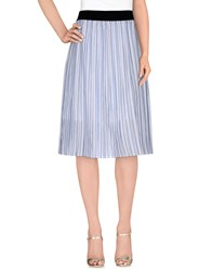 Pinko Skirts 3 4 Length Skirts Women Sky Blue