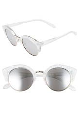 Women's Bp. 46Mm Round Cat Eye Sunglasses