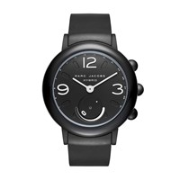 Marc By Marc Jacobs Riley Black Ip And Black Rubber Hybrid Smartwatch Black