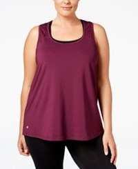 Ideology Plus Size Performance Racerback Tank Top Only At Macy's Sweet Fig