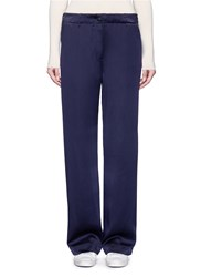 Elizabeth And James 'Gavin' Wide Leg Silk Satin Pants Blue