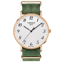 Tissot T1096103803200 'S Everytime Fabric Strap Watch Green White