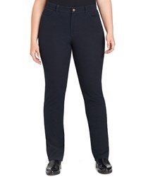 Lafayette 148 New York Curvy Bi Stretch Slim Leg Jeans Women's Dark Indigo