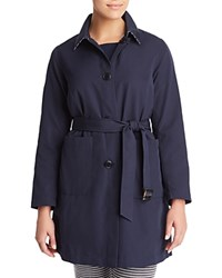 Marina Rinaldi Taranto Point Collar Reversible Overcoat Dark Navy