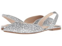 Blue By Betsey Johnson Mimi Silver Glitter Flat Shoes