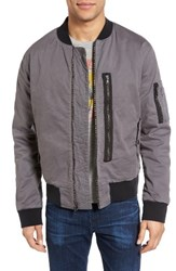 Hudson Jeans Men's Knox Twill Bomber Jacket Unconquered Grey