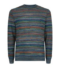 Missoni Zig Zag Knit Jumper Male Multi