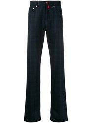 Kiton Straight Leg Check Trousers 60
