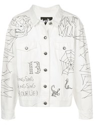 Haculla Tatted Embroidered Denim Jacket 60