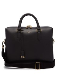 Dolce And Gabbana Leather Briefcase Black