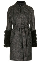 Maida Tweed Trench Coat By Unique Black