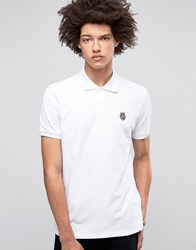 Love Moschino Chest Logo Polo Shirt White