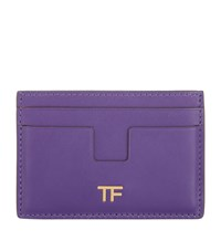 Tom Ford Leather Card Holder Red