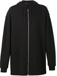 Alexander Wang Girls Girls Girls Embroidered Hoodie Black