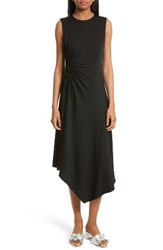 Elizabeth And James Women's Martha Side Ruched Asymmetrical Stretch Silk Dress