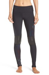 Onzie Women's 'Moto' Mesh Inset Leggings