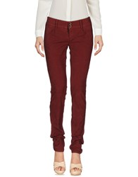 Camouflage Ar And J. Casual Pants Maroon