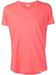 Orlebar Brown V Neck T Shirt Pink And Purple