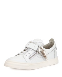 Giuseppe Zanotti Ski Buckle Low Top Sneaker White