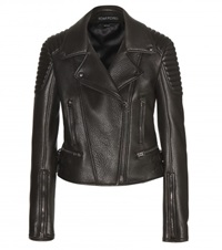 Tom Ford Leather Biker Jacket Brown