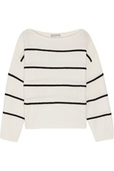 Vince Striped Cashmere Sweater Ivory