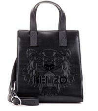 Kenzo Mini Tiger Embossed Tote Black