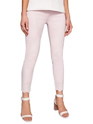 Ted Baker Massiee Embroidered Jeans Baby Pink
