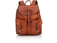 Campomaggi Men's Distressed Flap Front Backpack Brown