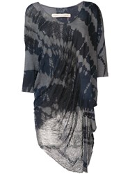 Raquel Allegra Long Tie Dye Top Women Cotton Polyester 3 Grey