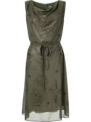 Hysteric Glamour Flared Dress Polyester Green