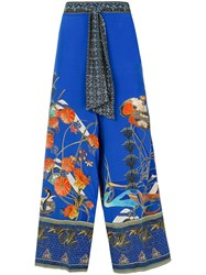 Camilla Tree Of Life Trousers Blue