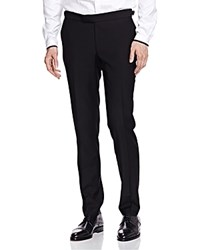 The Kooples Slim Fit Tuxedo Trousers Black