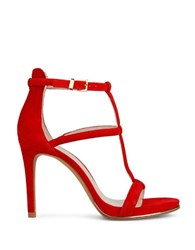 Kenneth Cole Bertel Stiletto Heel Dress Sandals Red