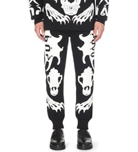 Ktz Skeleton Print Jogging Bottoms Black White Puff