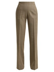 A.P.C. Farah Prince Of Wales Check Wool Blend Trousers Beige Multi